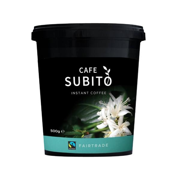 Tin of Cafe Subito Fairtrade instant coffee