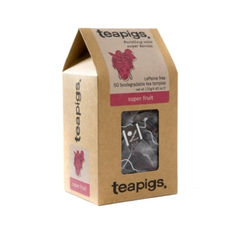 Box of Teapigs super fruit teabags