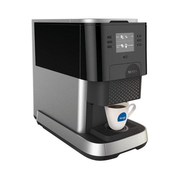 Side view of the Flavia Creation 500 coffee machine in use