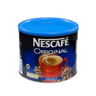 Tin of Nescafe Original decaf instant coffee