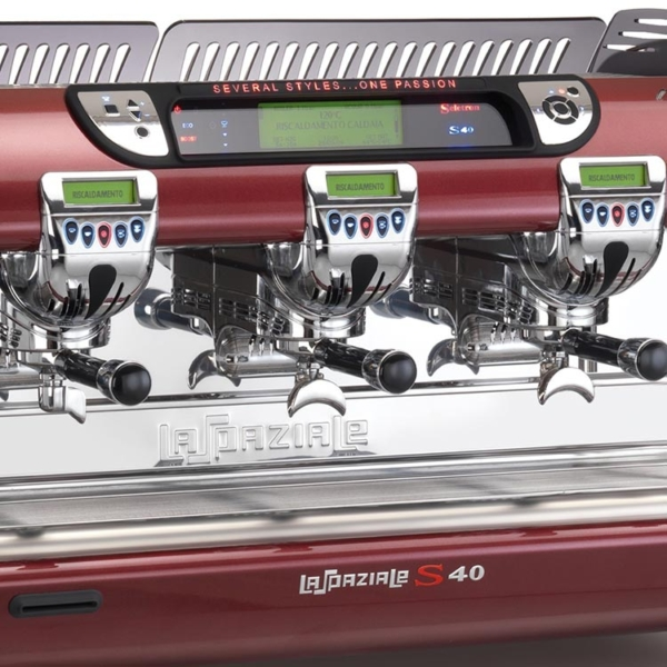 Close up of the La Spaziale S40 Selectron Traditional Coffee machine