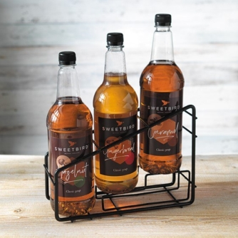 sweet bird three tier syrup bottle stand