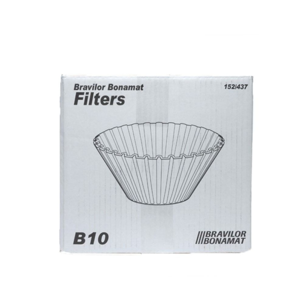 box of Bravilor bonamat conical coffee filter papers for b10