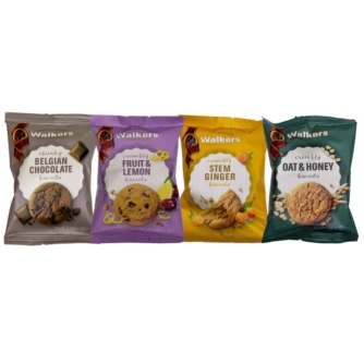 selection of walkers individually wrapped biscuit portions