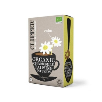 box of clipper organic chamomile teabags