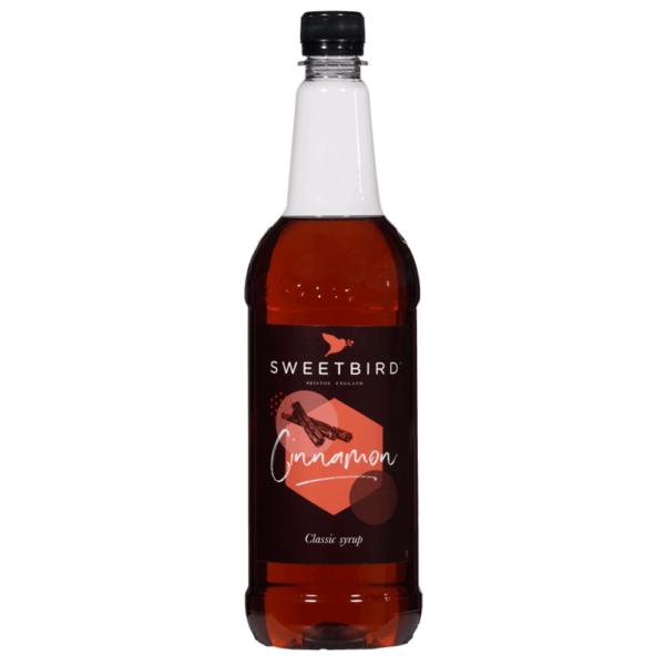 bottle of sweet bird cinnamon syrup