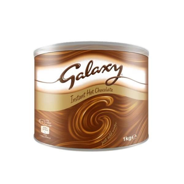 Tin of galaxy instant hot chocolate powder