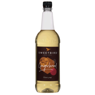 bottle of sweet bird gingerbread syrup