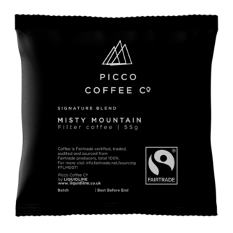Individual bag of Picco coffee co misty mountain filter coffee