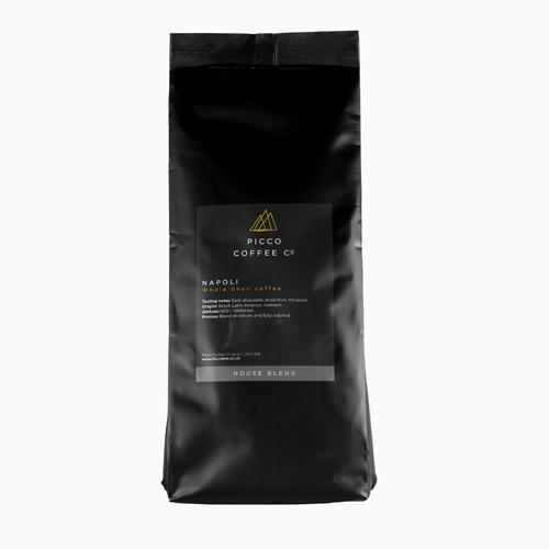 Bag of Picco Coffee Co Napoli whole bean coffee