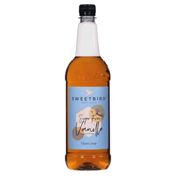 bottle of sweet bird sugar free vanilla syrup