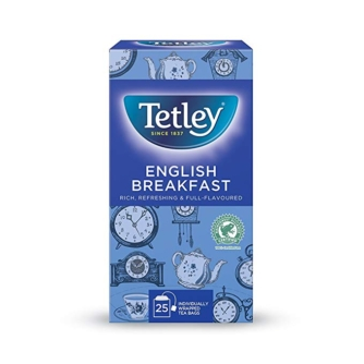 box of tetley English breakfast teabags