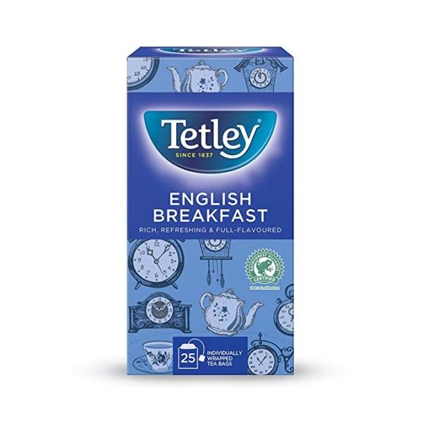 box of tetley English breakfast teabags
