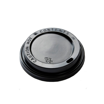 black plastic lid for paper cup