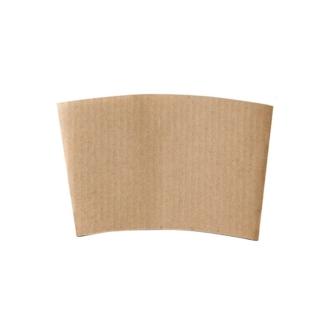 brown cardboard paper cup sleeve for takeaway hot drinks