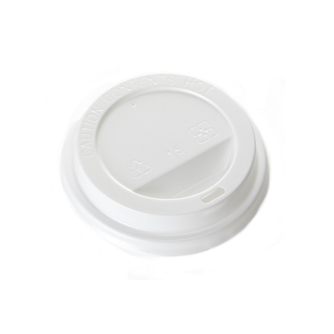 white plastic lid for 12oz paper cup