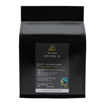 Picco coffee co misty mountain whole bean coffee
