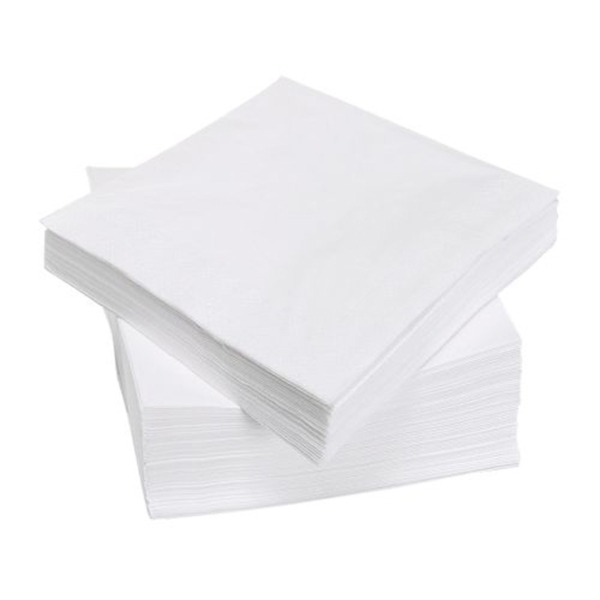 white 1 ply paper napkins