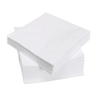 white 2 ply paper napkins
