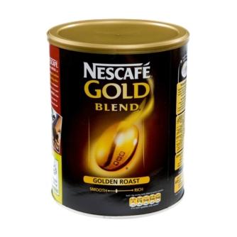 tin of Nescafe gold blend golden roast coffee