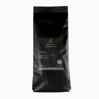 Bag of Picco Coffee co Verona whole bean coffee