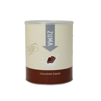 tin of zuma chocolate frappe powder