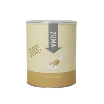 tin of zuma vanilla frappe powder