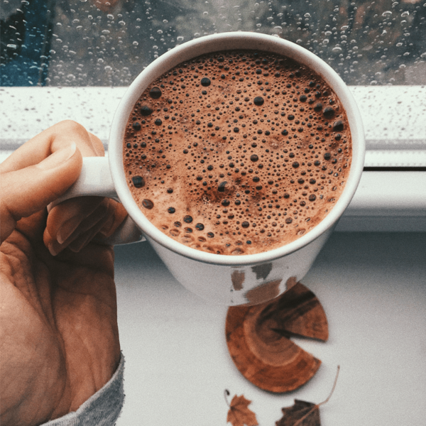 Cup of Galaxy hot chocolate