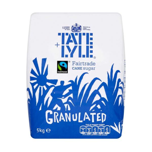 Tate and Lyle granulated sugar 5kg bag