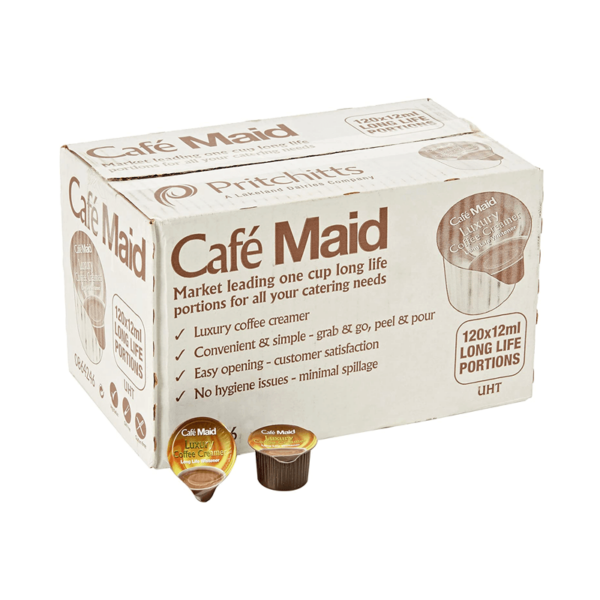 Box of Cafe Maid Coffee Cream portions