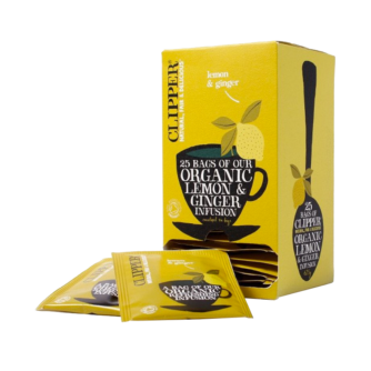 Clipper lemon and ginger teabags 25