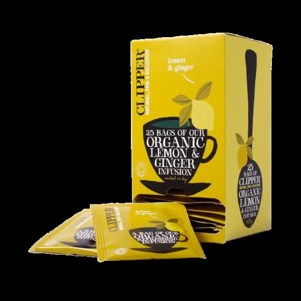 Clipper lemon and ginger teabags 25