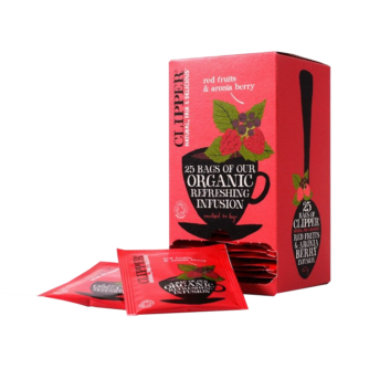 Clipper Organic red fruits and aronia berry 25 teabags