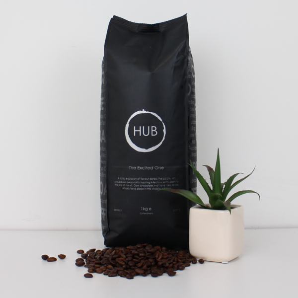 Hub The Excited One 1kg bag of coffee beans