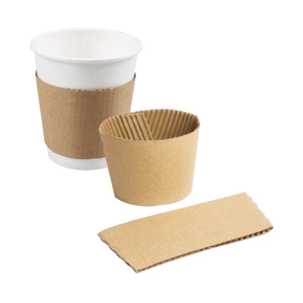 Kraft cup sleeve displayed on cup