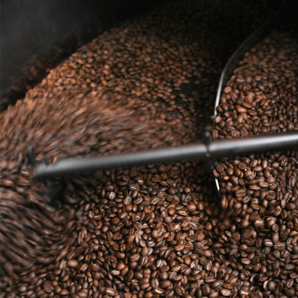 Close up of coffee being roasted