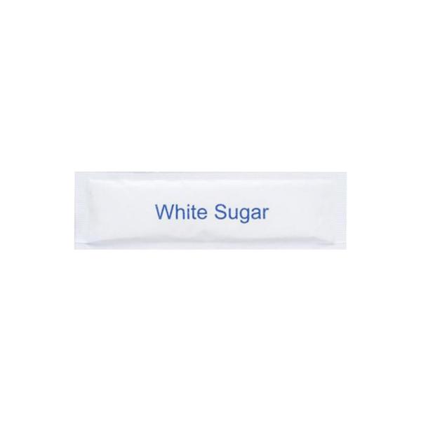 Sachet of white sugar