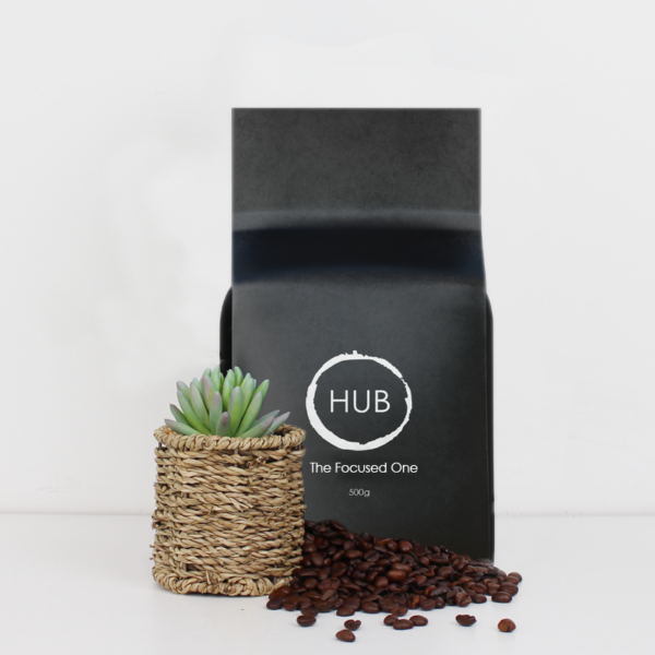 Hub The Focused One 500g bag of coffee beans
