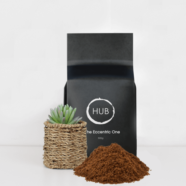 A 500g bag of Hub The Eccentric One Filter Coffee
