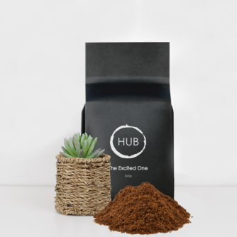 A 500g bag of Hub The Excited One Filter Coffee