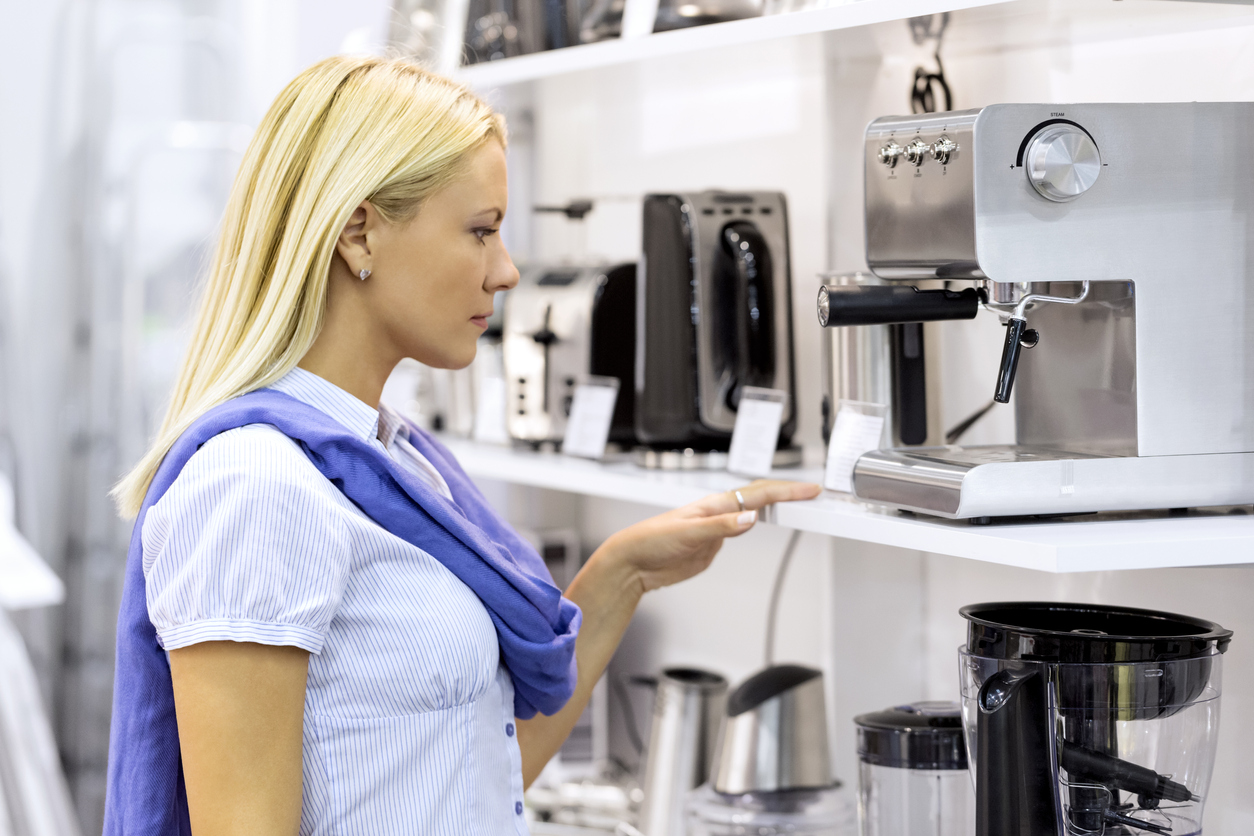 Shopping for Bean To Cup Coffee Machine in a store in the UK